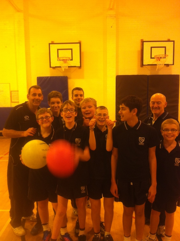 A Happy Bunch: The Active 1 Gang with Mr Taylor & Mr Riley